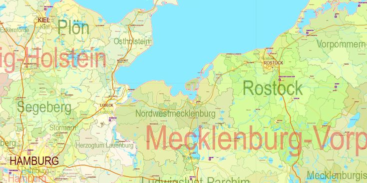 germany pdf map full administrative divisions 01 states