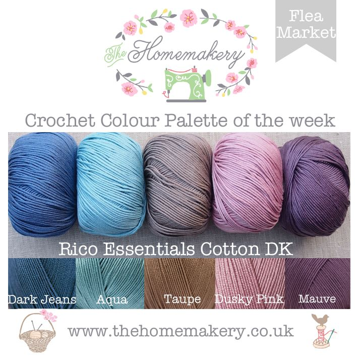 Crochet Colour Palette: Flea Market featuring Rico Essentials Cotton DK - The Homemakery Blog