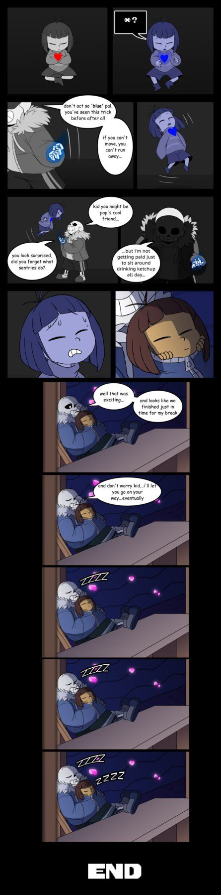 """not an April Fools joke either X3 just the first page of a mini comic  basically my comic representation of the """"Pacifist Sans fight."""" a fan video on YouTube. Oh no TC's starting another ..."""