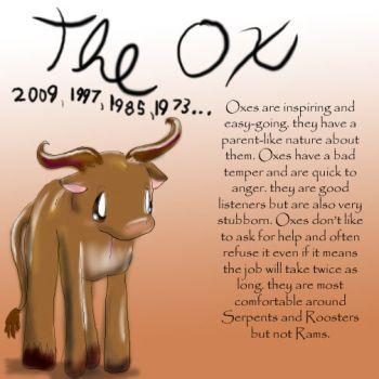 Zodiac The Ox by Dei--dara