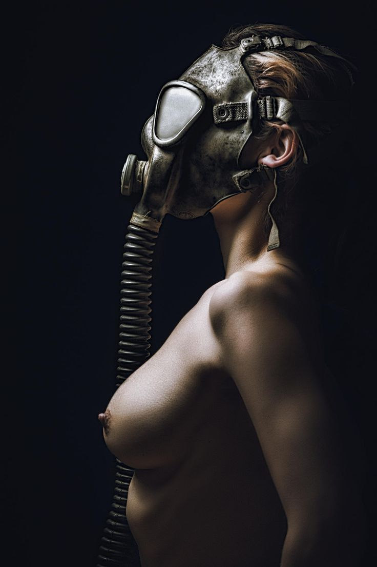 Naked Woman With Gas Mask And Poisonous Smoke Stock Photo By Graphicstockphoto