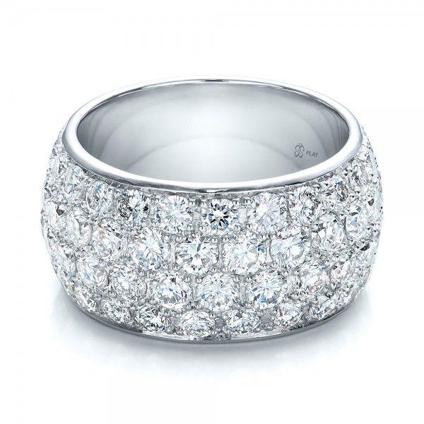 Custom Pave Diamond Wedding Ring - 100875 | Joseph Jewelry Seattle Bellevue