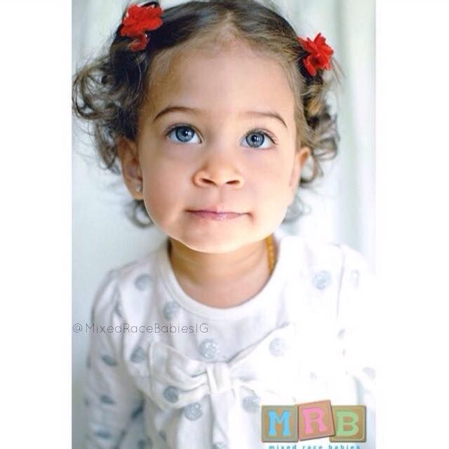 Pretty Peruvian Native American And Black Baby Mixed