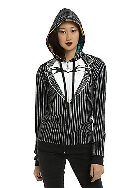 Because it gets chilly in Halloween Town // The Nightmare Before Christmas Jack Sally Reversible Girls Hoodie