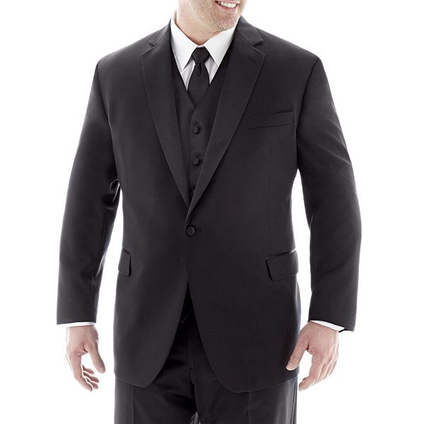 Stafford® Satin Tuxedo Suit Separates - Big & Tall