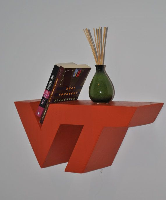 Virginia Tech Shelf - Orange or Maroon Painted. $40.00, via Etsy.
