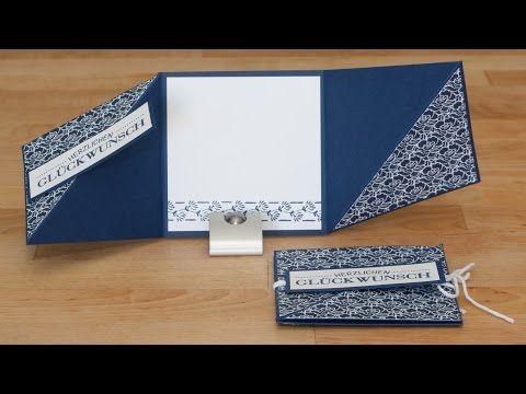 Triangle Tri-Fold Card - Dreifach gefaltete Dreieckskarte mit Produkten von Stampin' Up! - YouTube