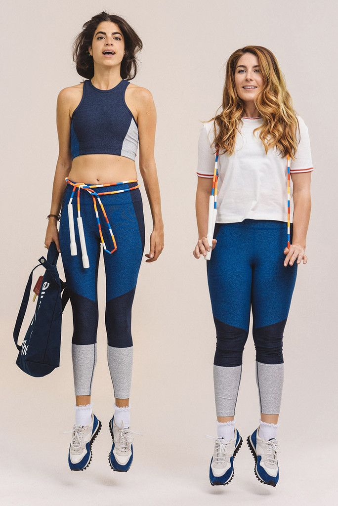 Leandra, Amelia and the limited edition LIMITED QUANTITY fitnuz kit (featuring a friggin jump rope, people!!!!!!). http://www.manrepeller.com/best_of_internet/outdoor-voices-man-repeller-collaboration.html