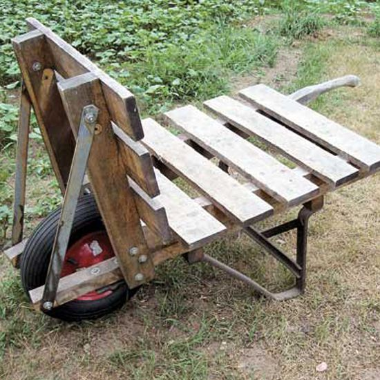Reclaiming a Heavy Duty Wheelbarrow - Farm and Garden - GRIT Magazine. I think this would be great for bagged horse bedding, bags of feed, etc