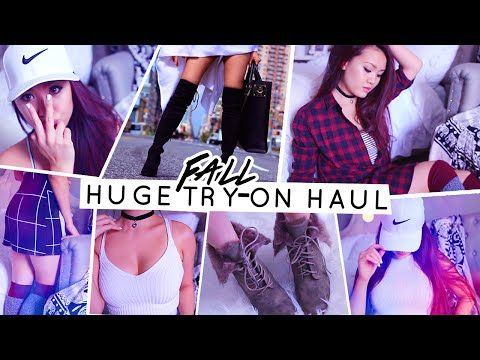 HUGE FALL TRY-ON HAUL ☯ Lilisimply - YouTube