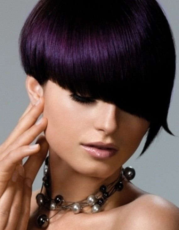 Eggplant hair color for fall