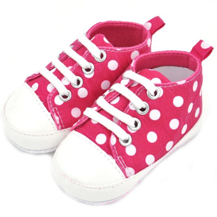 Hot Sales New Cute Infant Baby Kid Boy Girl Comfortable Toddler Baby Soft Shoes Lace-up Sneaker Canvas shoes