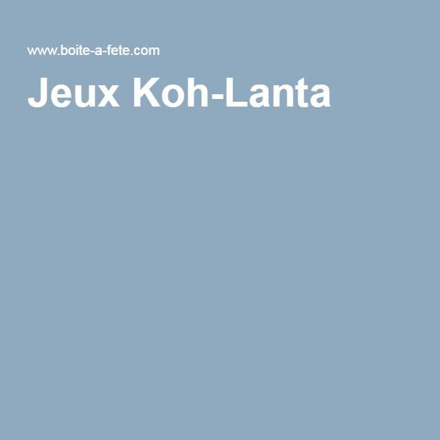 Jeux Koh-Lanta