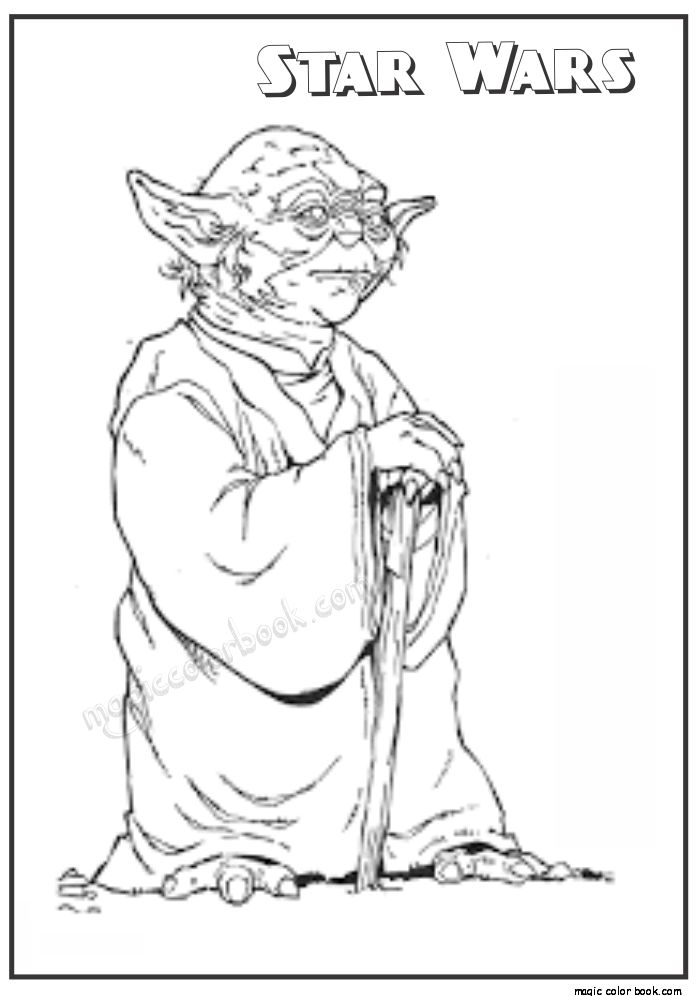 star wars master yoda coloring pages 27 - Yoda Coloring Pages