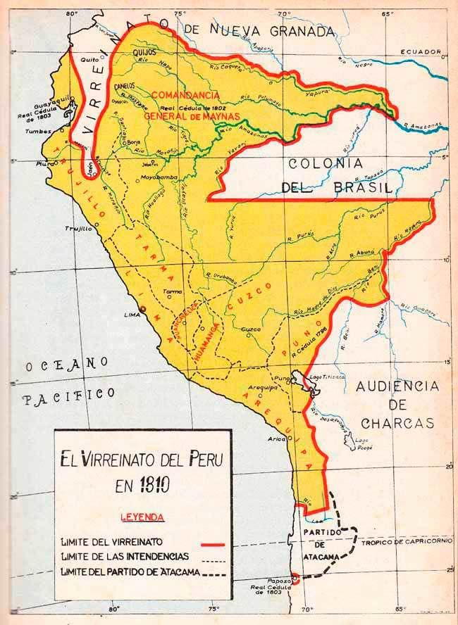 virreinato peru 1810