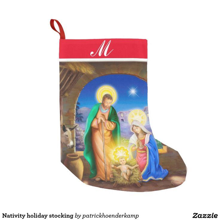 De vakantiekous van de geboorte van Christus Small Kerstsok