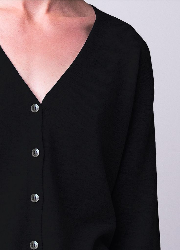 Cashmere take me anywhere cardigan - black - Women