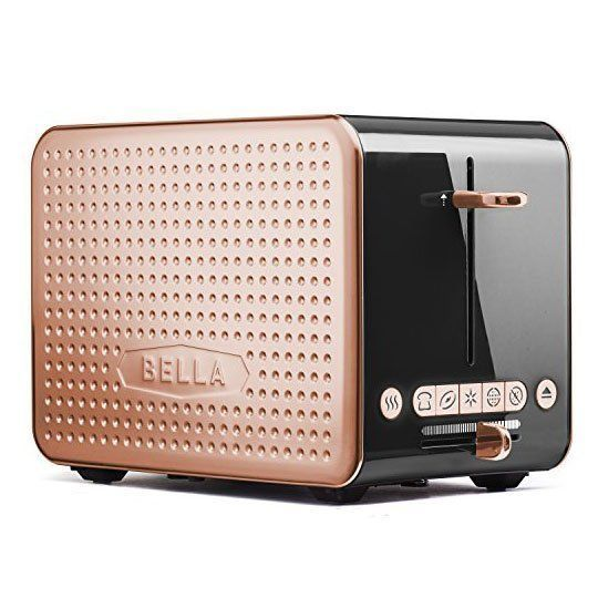 Black and Copper 2-Slice Toaster from BELLA #kitchendecor
