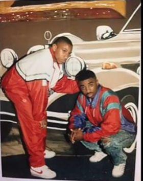 """Ears Da christ next to Andre """"Tank"""" Johnson. Alpo had Big ..."""
