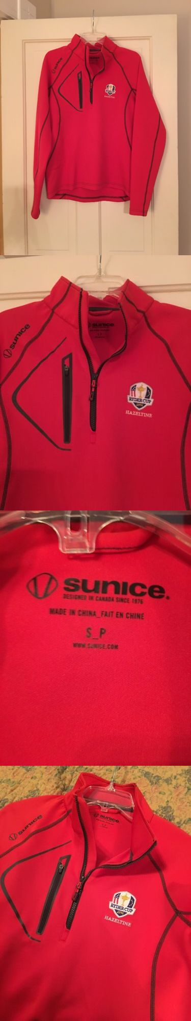 Other Mens Golf Clothing 181141: New Mens Sunice 2016 Ryder Cup Pullover Small S Red Black Nwot -> BUY IT NOW ONLY: $84.99 on eBay!
