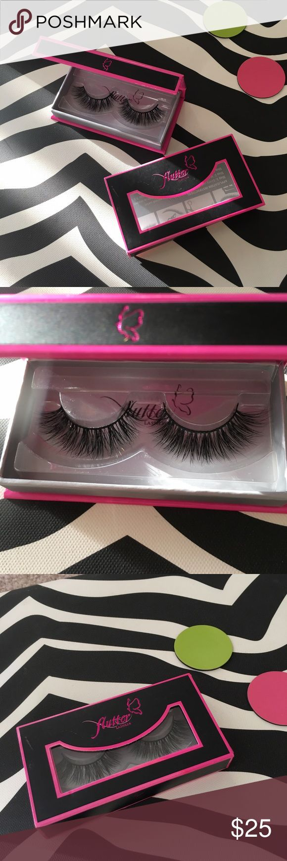 Mink Flutter Lashes in Annabelle Brand new mink lashes. Never used by Flutter lash. Made like no other! Perfect for an occasion. Super sexy 💋 Flutter Lashes Makeup False Eyelashes