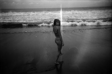 Rusty Spring 2015 behind the scenes, shot in Bali featuring Mimi Elashiry. #ourkind #bikini #filmisnotdead #blackandwhite