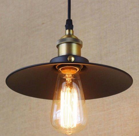 Американский чердак железа искусства подвесные светильники просто промышленные винтаж освещение для жизни столовая висит лампа Lamparas Colgantes