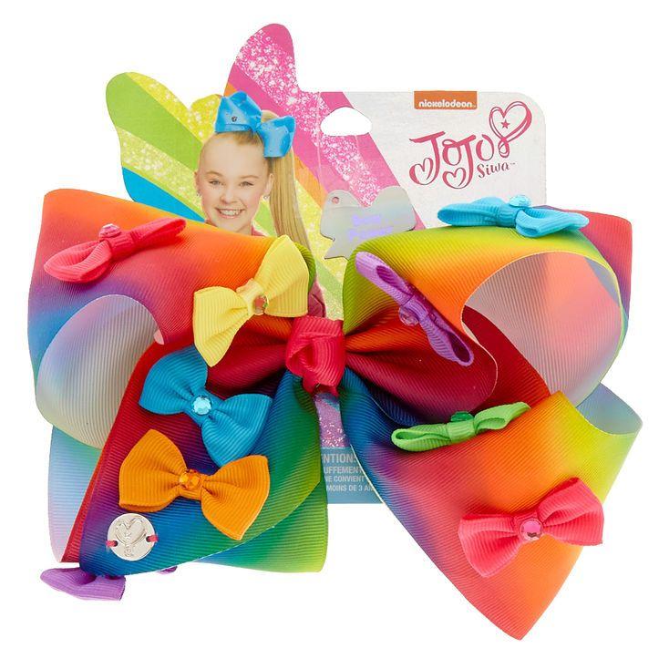 JoJo Siwa Large Rainbow Bow Power Hair Bow