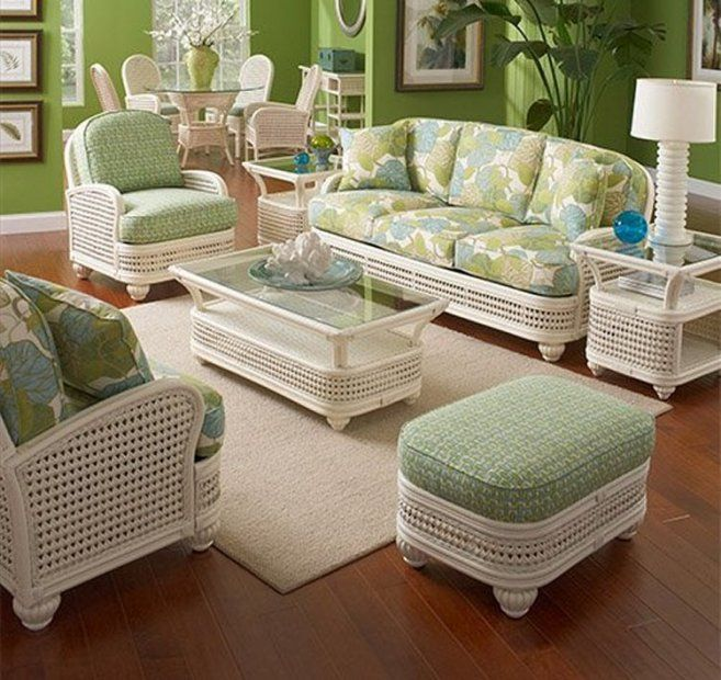 Furniture Design, The Modern Design Of Indoor Sunroom Furniture With The  White Green Sofa Also Glass Rectangle Table On White Carpet On Brown Floor  Frame On ...