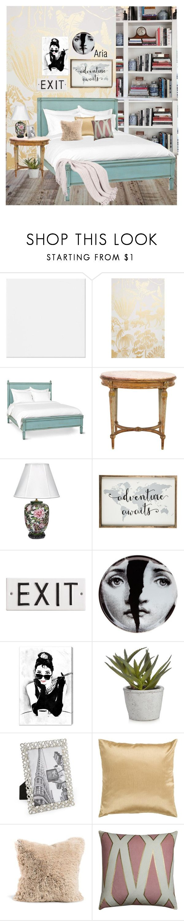 """""""Bed Room a la ARIA MONTGOMERY"""" by mara-glamour ❤ liked on Polyvore featuring interior, interiors, interior design, home, home decor, interior decorating, Aimée Wilder, Redford House, Fornasetti and Oliver Gal Artist Co."""