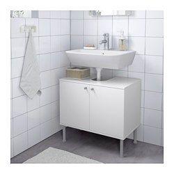FULLEN Armário Baixo Lavatório 2 Portas, Branco   60x55 Cm   IKEA