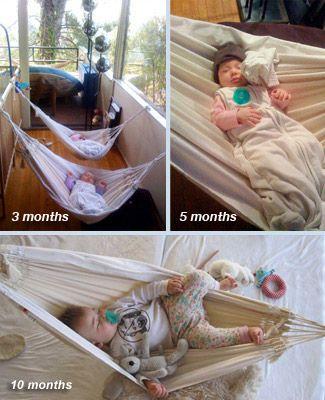 Babyhangmatten kunnen gemakkelijk in de box worden opgehangen.