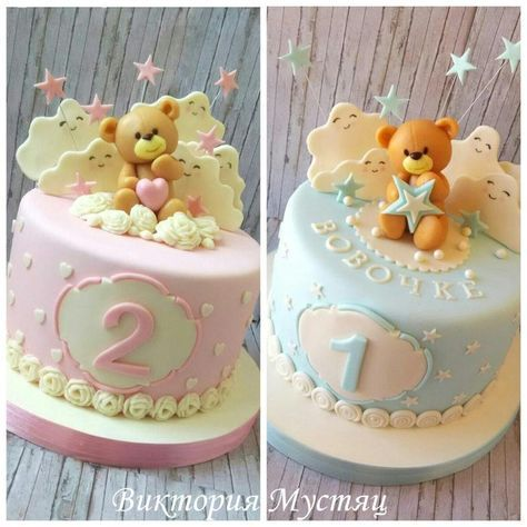 Bear for girl and boy - Cake by Victoria