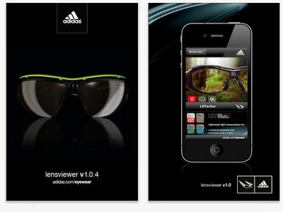 App para iphone de Adidas eyewear