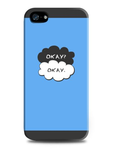 "Okay okay by Adorkable Store. The fault in our star "" okay "" scene case. polymer thermoplastic flexible enough and wont scratch your phone. With blue and black color rone, this case look simple but cute on the same time. http://www.zocko.com/z/JE9kn"