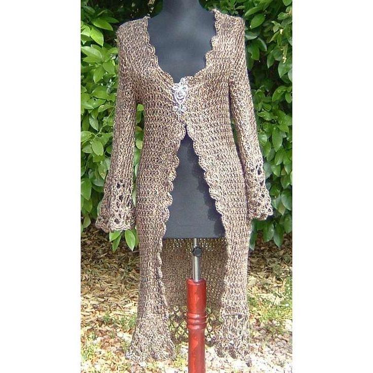 10 Best images about Crochet long sweaters on Pinterest Crochet coat, Long ...