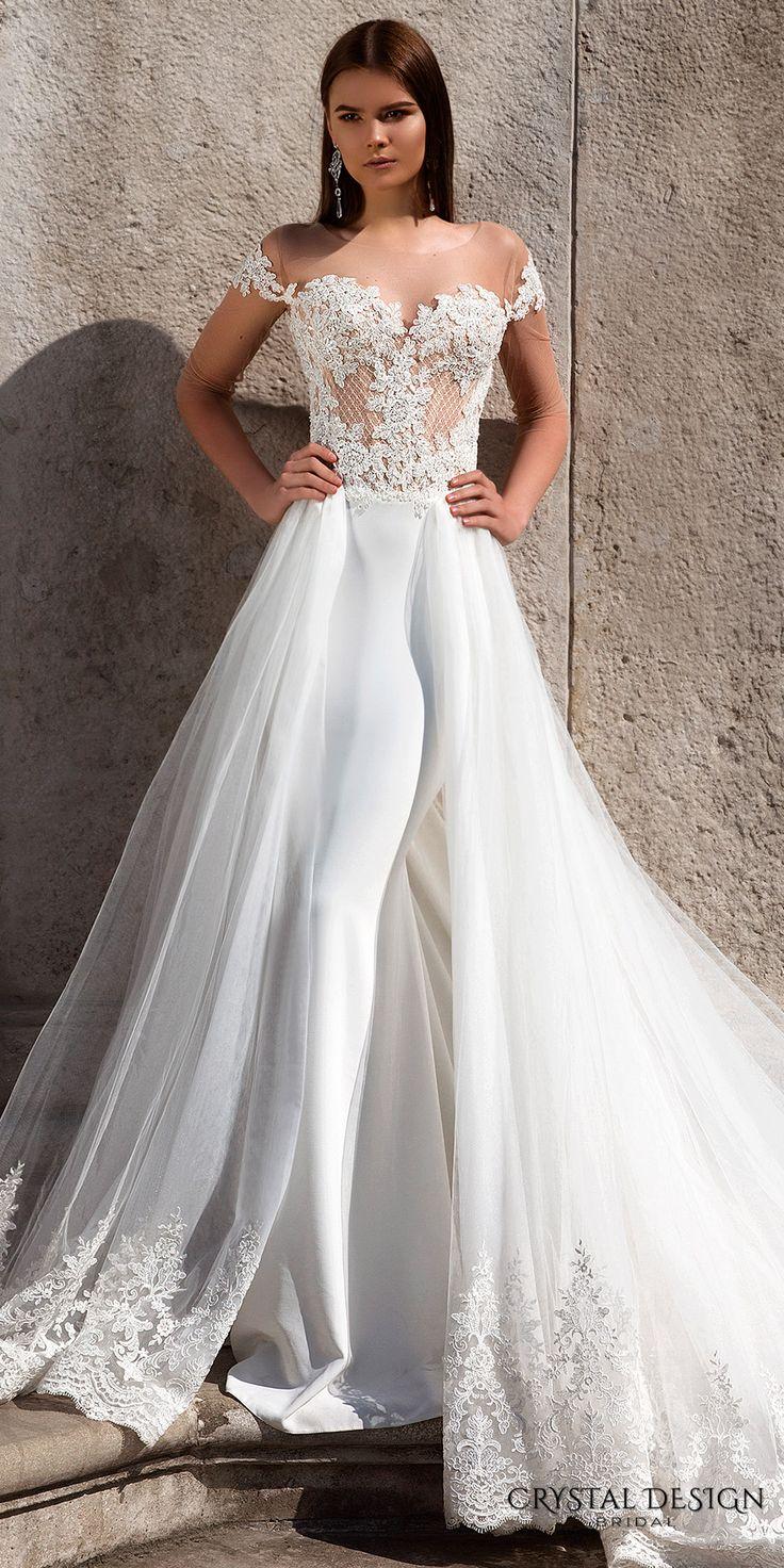 Crystal Design 2016 Wedding Dresses Lace Bodice Bodice
