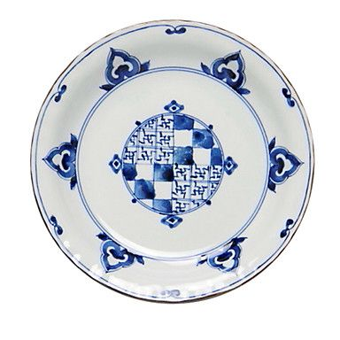 Vintage rotondo floreale in ceramica Piatto Cena, W21.5cm xL21.5cm xH3.5cm – EUR € 26.39