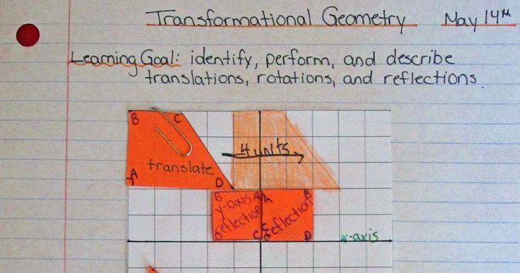 Runde's Room: Sunday Math Journals - Transformational Geometry