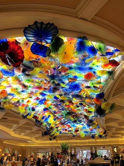 Bellagio ceiling by hwgirl, via Flickr