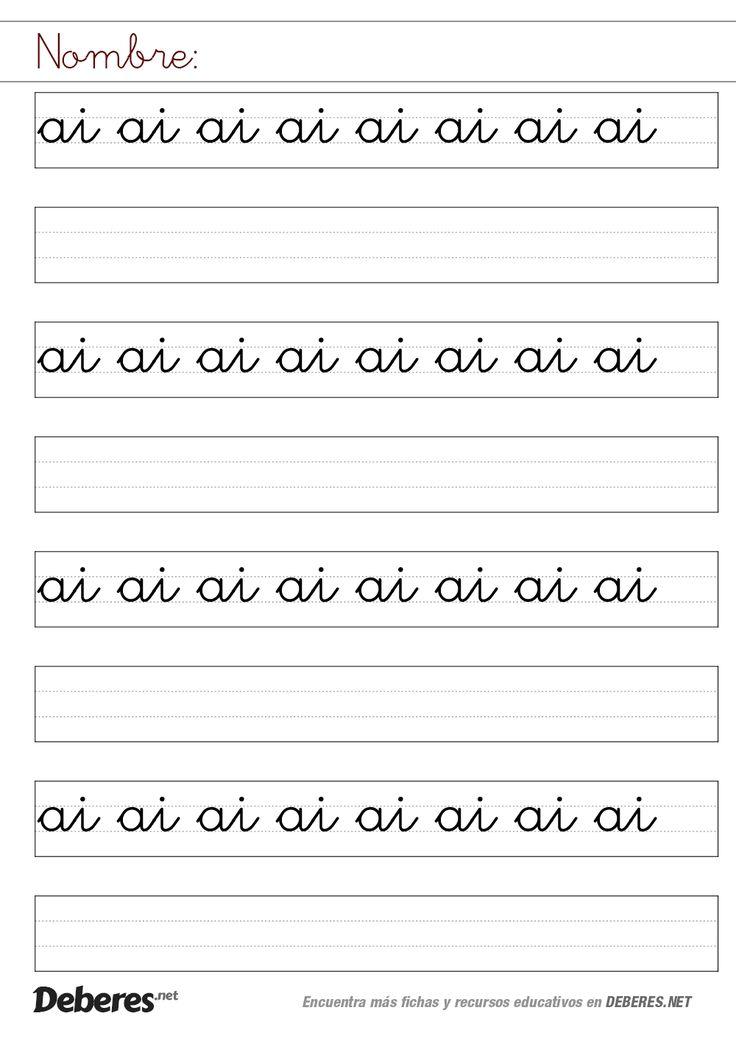 Ficha letras ai unidas pauta montessori