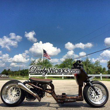 "Honda Ruckus wheels rims GOLD FACE MESH LOVE FULL 13"" + tires mounted"