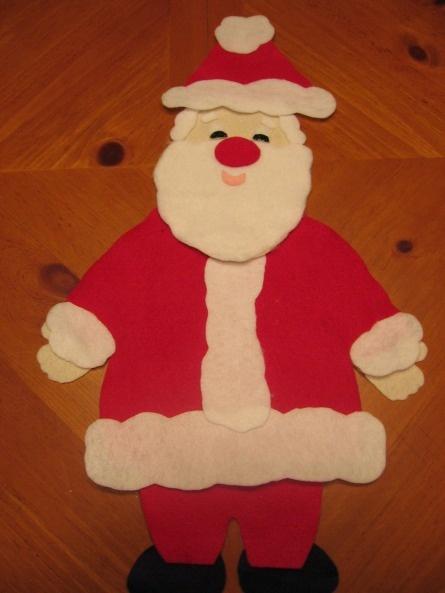 Santa's New Suit- story make into felt board