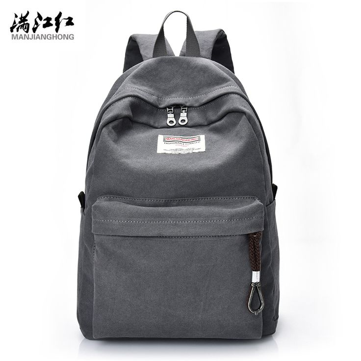 """Manjianghong High Quality Fashion Canvas Casual Women Men Backpacks Male Backpack for Students Backpack for 14"""" Laptop 1383"""