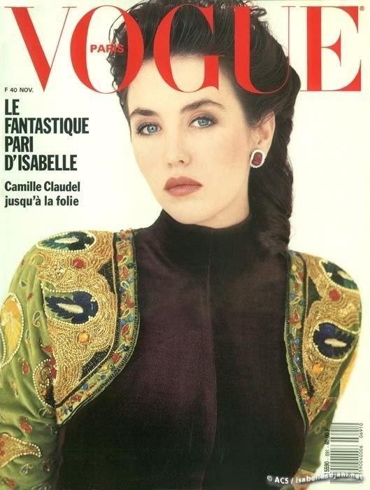 Isabelle Adjani, Vogue Paris, November 1988. Photo Brigitte Lacombe