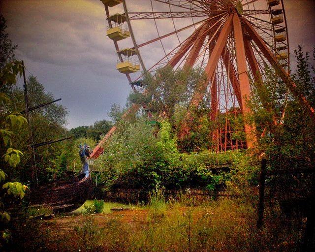 Spreepark Plänterwald  An abandoned amusement park in Berlin.