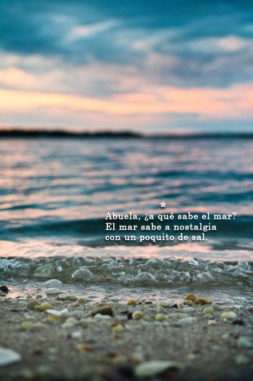 ¿a qué sabe el mar?