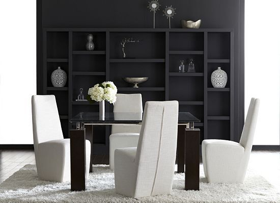Eye Catching Mod Design Defines The Vogue Dining Collection From Havertys.