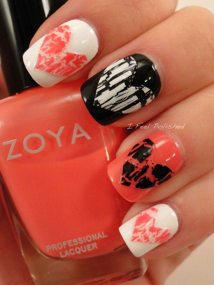 Everyone's got crackle. Tie it in this #Valentines day. #nails