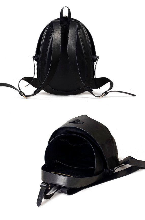 BLACK FRIDAY Leather Backpack for Men or For by KiliDesign on Etsy